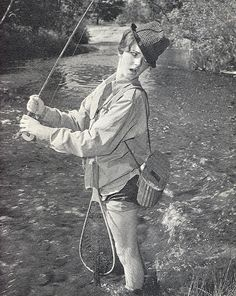 What better way to celebrate than with a selection of awesome vintage fishing photos, postcards, adverts and memorabilia? Fishing Girls, Gone Fishing, Fly Girls, Fishing Stuff, Outdoor Magazine, Fishing Photos, Vintage Fishing, Historical Pictures, Old Pictures