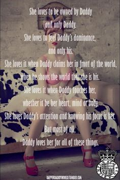 She loves to be owned by Daddy Daddys Little Princess, Daddy Dom Little Girl, Daddys Girl, My Daddy, Sexy Love Quotes, Naughty Quotes, Kinky Quotes, Sex Quotes, Eros And Psyche