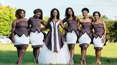 Tswana Traditional Wedding / Dresses And Wear African Bridesmaid Dresses, African Wedding Attire, Wedding Bridesmaid Dresses, African Attire, African Dress, Bridesmaids, Bridal Dresses, Wedding Gowns, African Traditional Wedding Dress