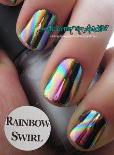 Walk In My Eye Shadow: Foil Focus Friday: Rainbow Swirl