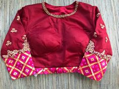 Pure Elegance red silk blouse front