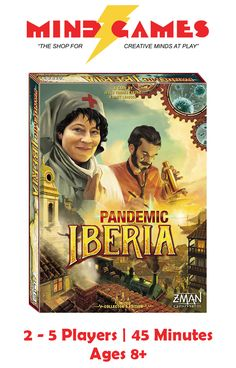 You've managed to cure the world of multiple diseases while treating virus hot spots, and now, if you're up to the challenge, you can take the fight to a less technologically advanced time in Pandemic Iberia. Team up with your friends and family to defend all of the cities in the Iberian Peninsula back in 1848. Travel by boat, carriage, and train as you try to cure various diseases like malaria and yellow with very limited resources.