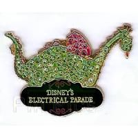(IN COLLECTION) (2008) PIN 62531- Elliot This open edition pin features Elliott the Dragon from Disney's Pete's Dragon as a float in Disney's Electrical Parade. This pin includes green and pink jewel attachments. To be released at WDW on June 3rd, 2010 for $13.95. WDW SKU 400000340739 Price Pink: $13.95 Puchased WDW 11/11/13 Serial: P390-6770-2-13168