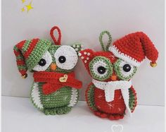 Amigurumi Pattern Christmas Owl, in PDF