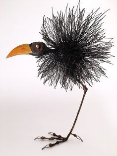 Tom Hill's Playful Sculptures of Birds Made of Wires and Wood | Hi-Fructose Magazine