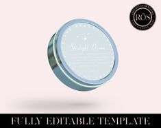 Edit Online, Candle Labels, Round Labels, Personalized Labels, Label Templates, Easy To Use, New Fonts, All Design, Body Lotion