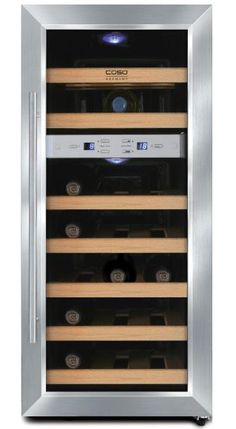 Caso Germany free-standing wine cooler - WineDuett 21 (W: 34 x H: 80.5 x D: 51 cm)   Wine Coolers and Wine Cabinets from Winestoragecompany.co.uk'