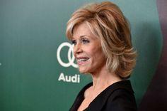 Jane Fonda medium layered hairstyle More