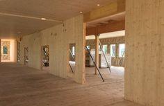 Lycée public Pierre Mendès-France - Murs en bois massif
