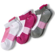 Lands' End Women's Active No-Show Socks (3-pack) ($16) ❤ liked on Polyvore featuring intimates, hosiery, socks, red, red slip, lands end socks, red socks, moisture wicking socks and lands' end