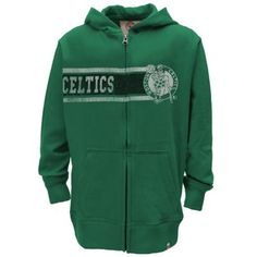 '47 Brand Boston Celtics Youth Play Ball Full Zip Hoodie - Kelly Green