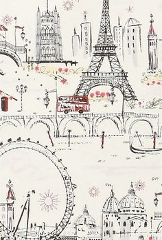sketches of Paris and London