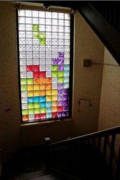 tetris stained windows