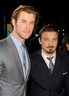 Thor premiere - Jeremy and Chris Nov 4, 2013 - Can't wait to see this movie