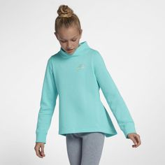 5a8449a27b8faa Nike Sportswear Big Kids  (Girls ) Fleece Crew Size M (Light Aqua