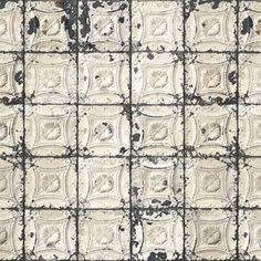 Papel pintado azulejos TIN-01 Brooklyn Tins de NLXL