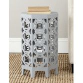 Found it at AllModern - Garion End Table  Darker, Charcoal grey is nice