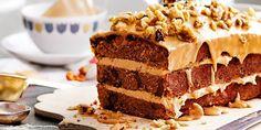 Recipe for coffee walnut cake - Cake recipes Coffee And Walnut Cake, Coffee Cake, Sweet Coffee, Sweet Recipes, Cake Recipes, Dessert Recipes, Pasta Recipes, Yummy Recipes, Desserts