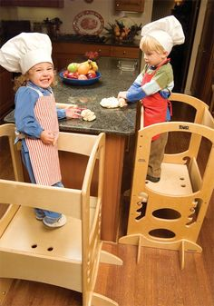 "Natural Learning Tower - Stool meant to let little ones be at counter level so they can ""help"" cook and see whats going on up there. Keeps them engaged in whats going on while youre in the kitchen."