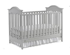 The Fisher Price #Charlotte Traditional Crib is a sweet addition to any #nursery. The gracefully arched end panels and carved inset detail create an adorable vint...
