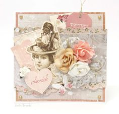 'Cherish Friends' card with Anita Bownds Design Team member for Kaisercraft Official Blog using 'Mademoiselle' collection. ~ Cards 1.