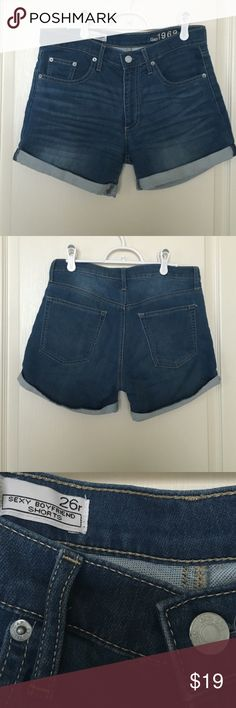 GAP sexy boyfriend shorts. Measurements. Used, in good condition. Gap Shorts Jean Shorts