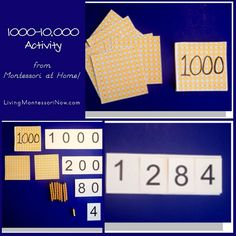 Montessori Monday – 1000-10,000 Activity from Montessori at Home!
