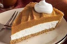 Double Layer Pumpkin Pie - Copycat Kosher