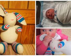 Plush Puppy Made From Baby's Hospital Receiving Blanket by numsies
