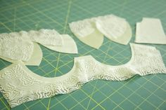 How to cut a bra pattern, from the Bra-making Sew Along at Cloth Habit