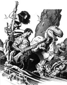 """Poor Cadillac! Some nice Xenozoic art by Mark Schultz. And by """"nice"""" I mean """"thoroughly mindblowing."""""""