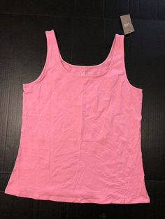 b65ac80e55e3a J. Jill NWT Women s Perfect Tank Top Pink Rosebud Size L Sleeveless Cotton  1064  JJill  TankTop