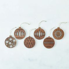 Laser-Cut Walnut Ornaments by Frederick Arndt Artworks 3d Laser, Laser Cut Wood, Laser Cutting, Wood Laser Ideas, Laser Cutter Ideas, Laser Cutter Projects, Carving A Turkey, Christmas Crafts, Christmas Ornaments