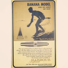 The Banana Model. Good for almost any wave
