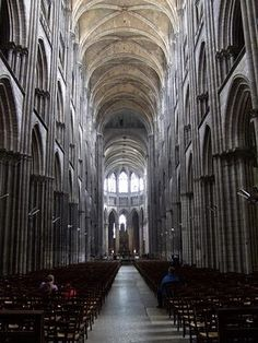 The Notre-Dame Cathedral in Rouen    enormous