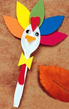 turkey spoon craft      #kids #crafts #DIY