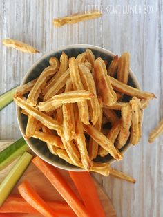 Chickpea snack straws