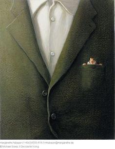 // Der kleine König - Michael Sowa Michael Sowa, Color Khaki, Color Stories, Amelie, Tie Clip, Fairy Tales, Adventure Movies, Fairytail, Tie Pin