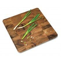 Lipper International 1016 ACACIA 16-in Square Cutting Chopping Board Block