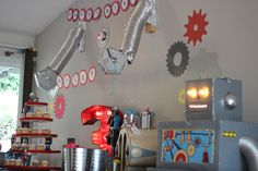 Monster Punch Robot Party Halloween Party Ideas Monster Birthday Party Princess and the Frog Birthday Party Ideas 4th Birthday Parties, Birthday Fun, Birthday Ideas, Robot Theme, Transformer Birthday, Party Themes For Boys, Space Party, Snacks Für Party, Party Ideas