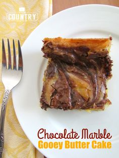 Chocolate Marble Gooey Butter Cake, totally delish
