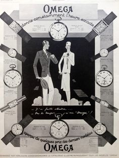 OMEGA watches vintage illustration print, original French magazine advertising, vintage retro poster 1927, Omega watches poster by OldMag on Etsy