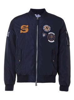 Navy Badge MA1 Bomber Jacket