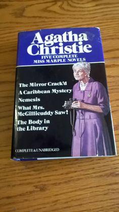 AGATHA CHRISTIE Miss Marple Novels (5 Novel Omnibus) 1980, Avenel, Hardcover/Dust Jacket, Good Plus by LightsOutBookshoppe on Etsy