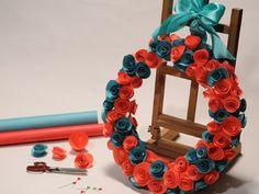 Manualidades y Artesanías | Rosca con flores de papel | Utilisima.com