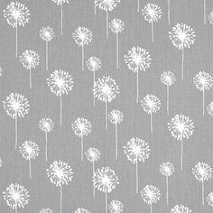 """Designerstoffe USA - """"Smal Dandelion"""" Baumwollstoff grau-weiß - ein Designerstück von Premier-Prints-Stoffe bei DaWanda"""