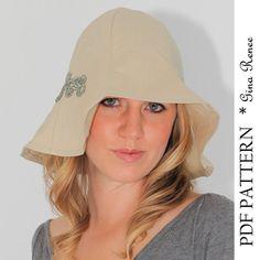 Womens Sun Hat Pattern. Wide Brim Hat Pattern - PDF Sewing Pattern