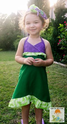 Little Mermaid Ariel Dress Disney Princess. I want to do this in terry cloth as a swimsuit cover. Inspiration pic