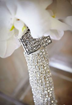 Rhinestone Wedding Ideas - Rhinestone Wedding Bouquet Stem Wrap