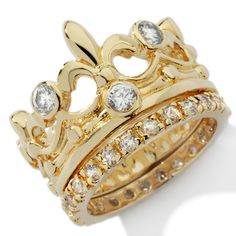 crown and tiara stackable rings  $15!!!!